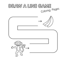 Cartoon Monkey Coloring Book Game for Kids