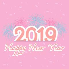 2019 new year celebration with firework