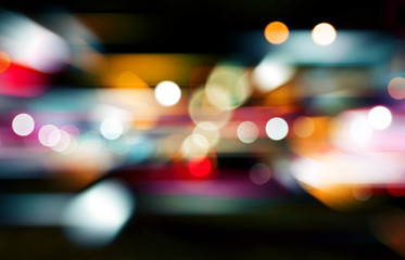 Abstract bokeh backgrounds with speed effect Fotomurales