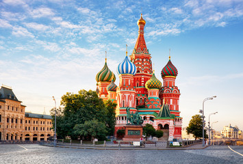 Moscow, St. Basil's Cathedral in Red square, Russia Wall mural