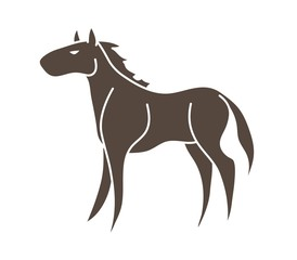 Horse cartoon icon graphic vector