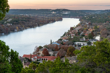 Sunset at Mount Bonnell in Austin, Texas