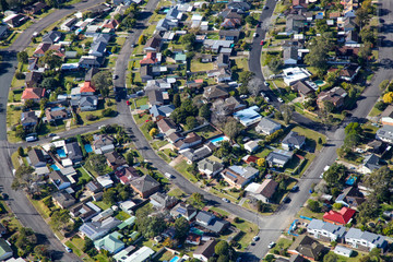 Newcastle residential surburb - Aerial View - Newcastle Australia