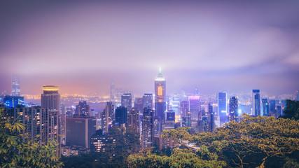 Panorama of central Hong Kong