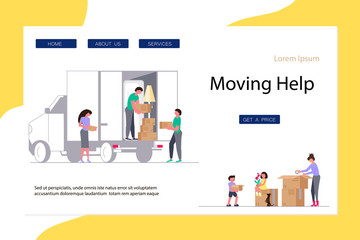 Moving Home And Office Concept