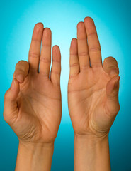 """MUDRA"" - position of hands in yoga and meditation"