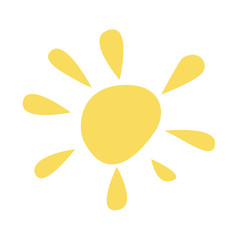 sun icon. vector illustration on white background