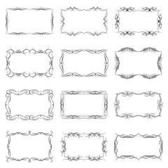 Set of twelve decorative vintage horizontal frames