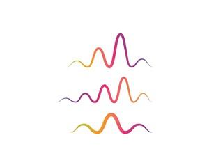 sound wave music logo vector