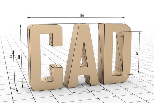 3D Illustration CAD Gitternetz weiß
