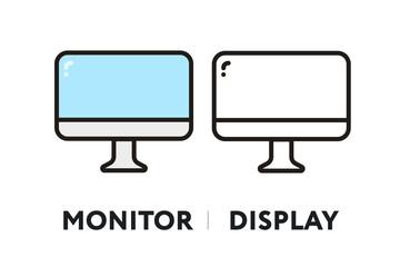 Monitor Display ScreenVector Flat Line Stroke Icon