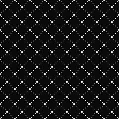 Vector seamless pattern. Simple stylish texture. Black-and-white background. Monochrome minimalistic design. Vector EPS 10