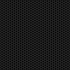 Vector seamless pattern. Hexagon grid texture. Black-and-white background. Monochrome honeycomb design. Vector EPS 10