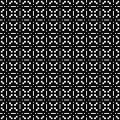 Vector seamless pattern. Geometric texture. Black-and-white background. Monochrome design. Vector EPS 10