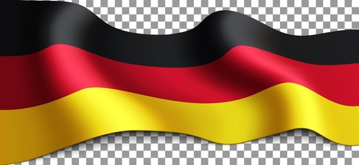 Vector Long German flag on transparent background Wall mural