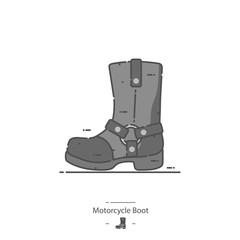 Motorcycle boot - Line color icon