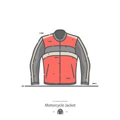 Motorcycle jacket - Line color icon