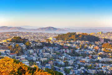 Fotomurales - Panoramic view of the San Francisco city.