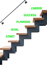 Hardwood stairs in modern and Steps for a succesfull career