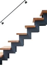 Hardwood stairs in modern renovated living room