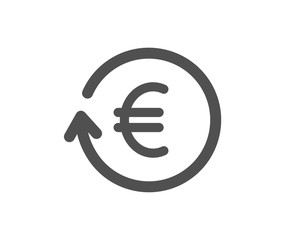 Euro Money exchange icon. Banking currency sign. EUR Cash symbol. Quality design element. Classic style icon. Vector