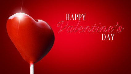Heart-shaped lollipop for the Valentine day