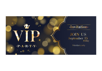 VIP invitation premium design background template.
