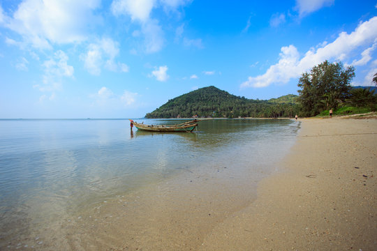 Untouched tropical beach of Thailand