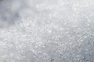 Blurred snow background