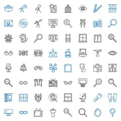 view icons set