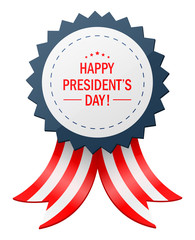 Happy presidents day with ribbon banner. vector illustration