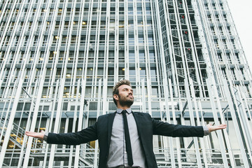 Successful Businessman in a Financial Area