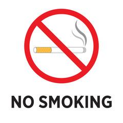 Smoking prohibition warning, vector design