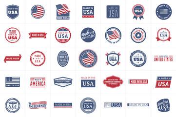 Fototapeta Made in the USA Labels obraz