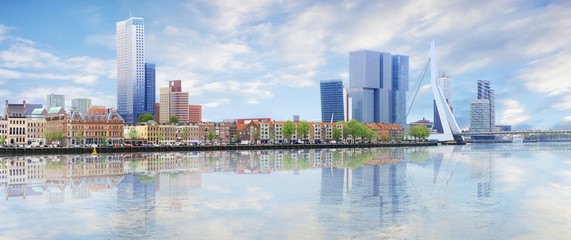 Photo sur Aluminium Amsterdam Panorama of Rotterdam