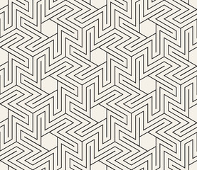 Vector seamless star shapes pattern. Modern simple abstract texture. Repeating geometric thin lines trellis.