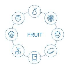 8 fruit icons