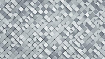 White rhomb mosaic surface 3D render