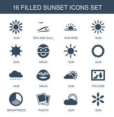 16 sunset icons