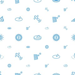 solar icons pattern seamless white background
