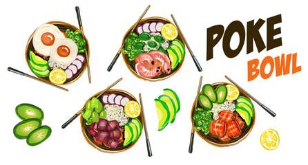 Poke Bowl Hawaiian cuisine food natural restaurant