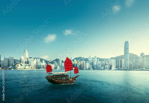 Wall mural Hong Kong harbour