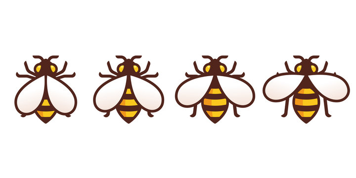 Bee icon with wing animation