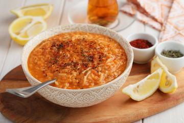 Lentil Soup with Vermicelli Noodles