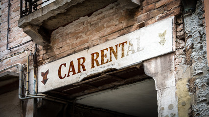 Sign 383 - CAR RENTAL