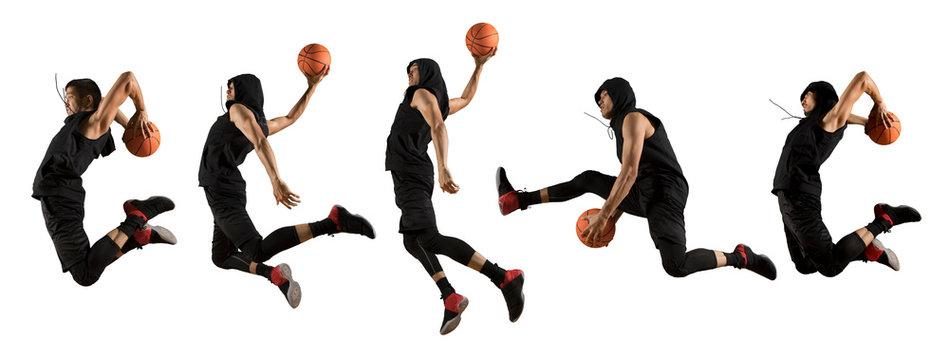 Man basketball player isolated