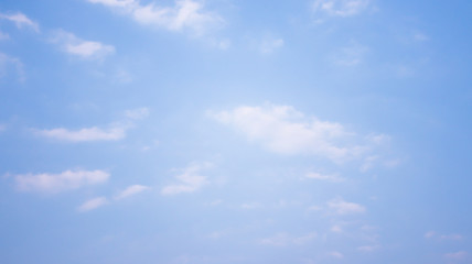 Blue sky with clouds. Nature concept.