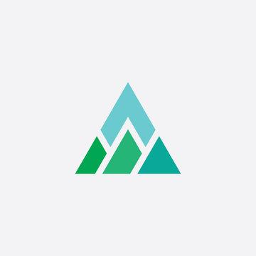 mountain vector triangle logo icon element