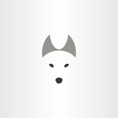 wolf symbol logo design vector icon
