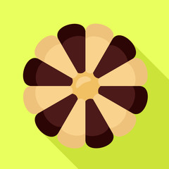 Flower biscuit icon. Flat illustration of flower biscuit vector icon for web design